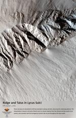 Ridge and Talus in Lycus Sulci