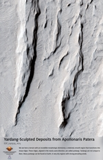 Yardang-Sculpted Deposits from Apollonaris Patera