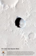 Pit Crater near Elysium Mons