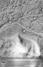 Ancient Streamlined Islands of the Palos Outflow Channel