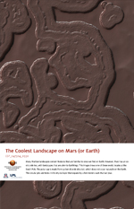 The Coolest Landscape on Mars (or Earth)