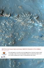 Well-Preserved Impact Ejecta and Impact Melt-Rich Deposits in Terra Sabaea