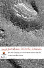 Layered Mantling Deposits in the Northern Mid-Latitudes