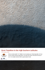 Dune Transition in the High Southern Latitudes
