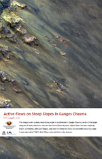 Active Flows on Steep Slopes in Ganges Chasma