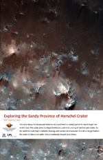 Exploring the Sandy Province of Herschel Crater