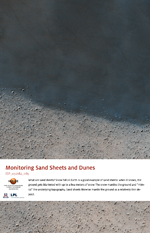 Monitoring Sand Sheets and Dunes