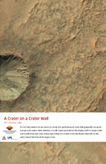 A Crater on a Crater Wall