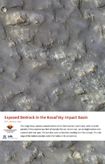 Exposed Bedrock in the Koval'sky Impact Basin