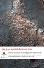 Light-toned Mounds in Gorgonum Basin