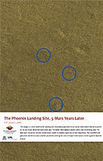 The Phoenix Landing Site, 5 Mars Years Later