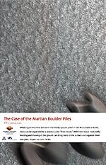The Case of the Martian Boulder Piles