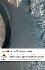 Summit Dunes and Their Sand Sources