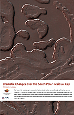 Dramatic Changes over the South Polar Residual Cap