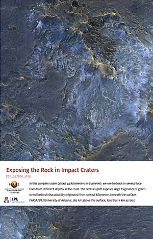 Exposing the Rock in Impact Craters