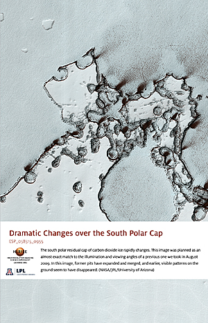 Dramatic Changes over the South Polar Cap