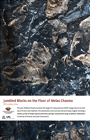 Jumbled Blocks on the Floor of Melas Chasma