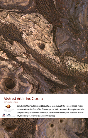 Abstract Art in Ius Chasma
