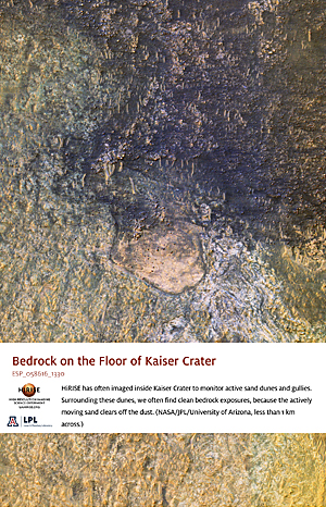 Bedrock on the Floor of Kaiser Crater
