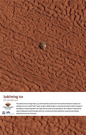 Subliming Ice