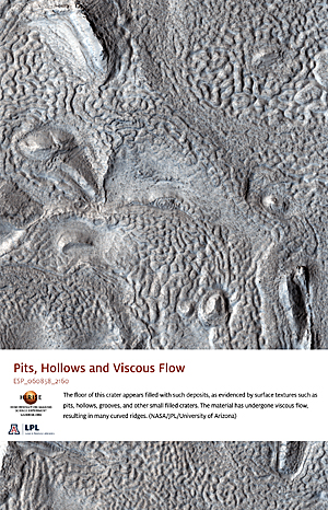 Pits, Hollows and Viscous Flow