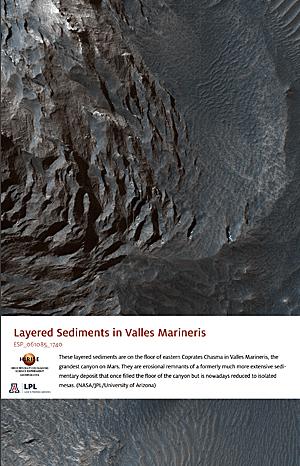 Layered Sediments in Valles Marineris