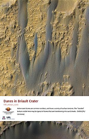 Dunes in Briault Crater