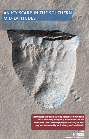 An Icy Scarp in the Southern Mid-latitudes