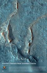 Inverted Channels Near Juventae Chasma