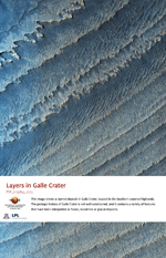 Layers in Galle Crater