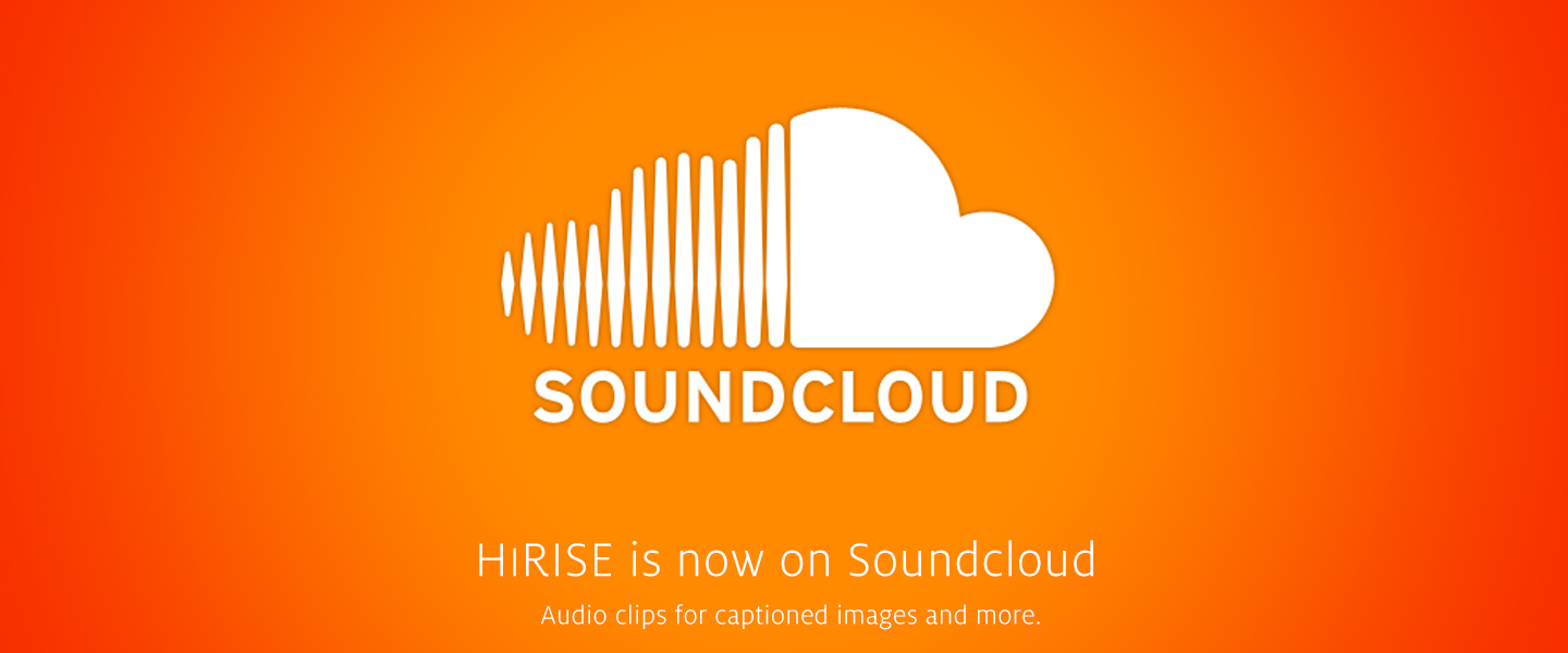 HiRISE is now on Soundcloud