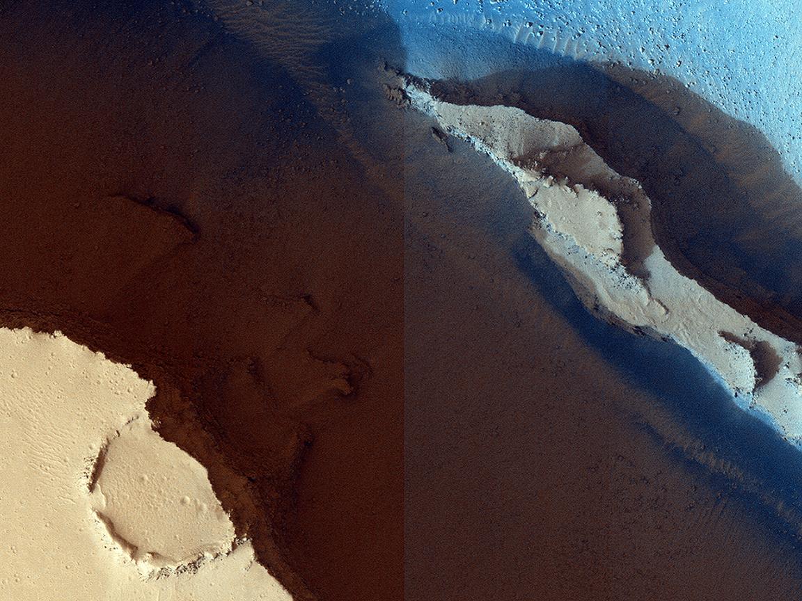 Cerberus Fossae: In The Relay Zone (ESP_039121_1905