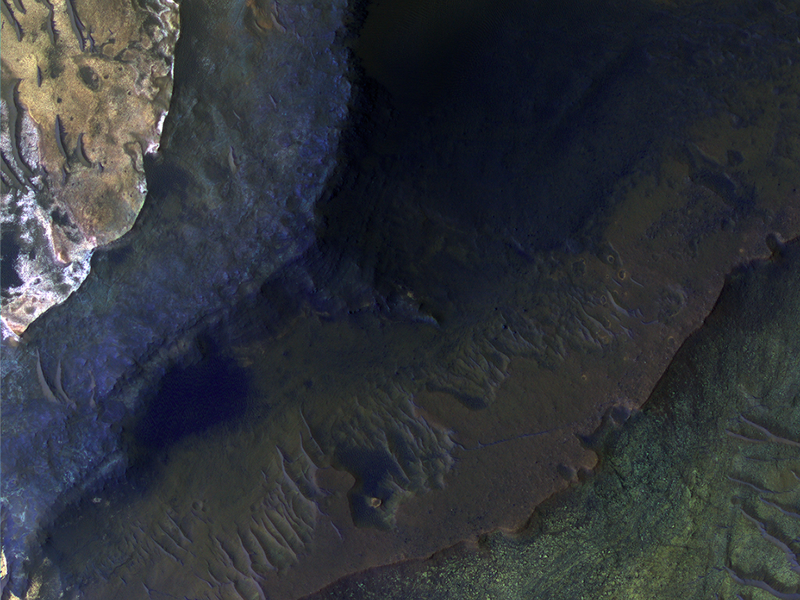 Hematite-Rich Deposits In Capri Chasma (ESP