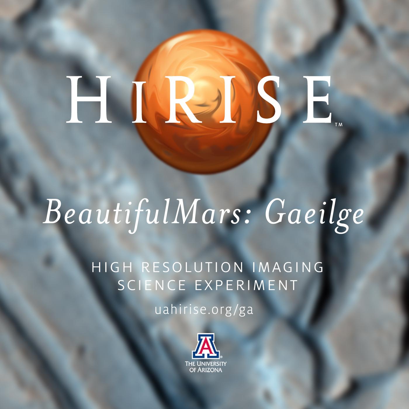 HiRISE: BeautifulMars Gaeilge